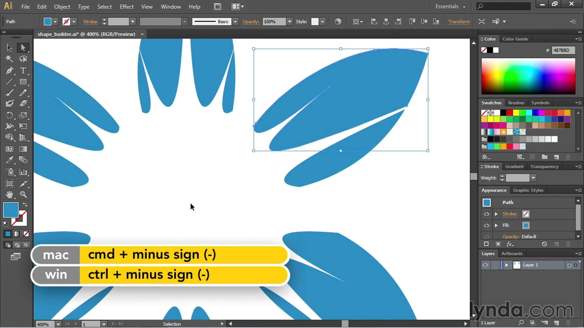 Working with the Shape Builder Tool Adobe Illustrator CC