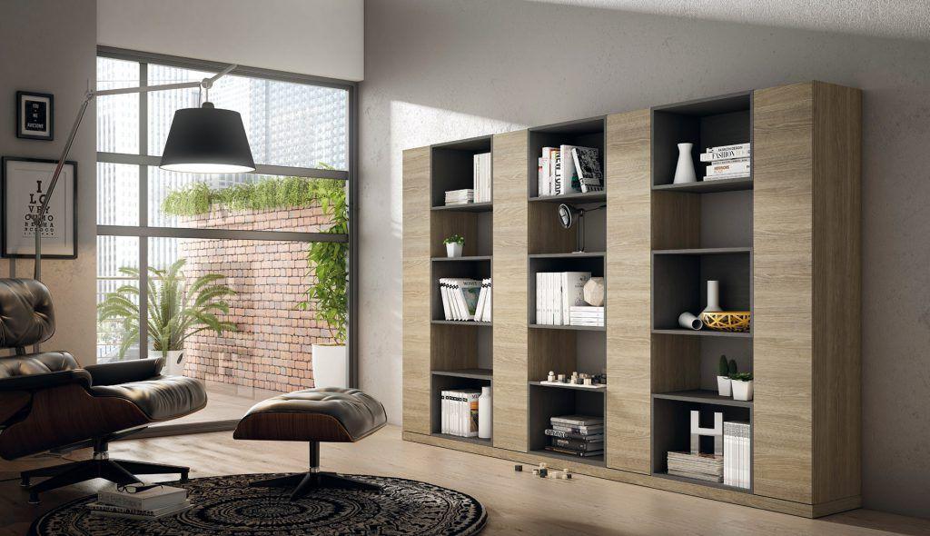 Librería de salón moderna (205 – SL3) - Muebles CASANOVA