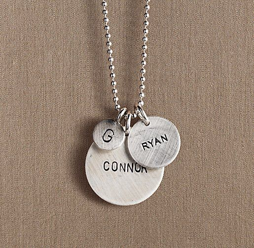 Sterling silver personalized disc jewelry for adults sterling silver personalized disc jewelry for adults restoration hardware baby child negle Image collections