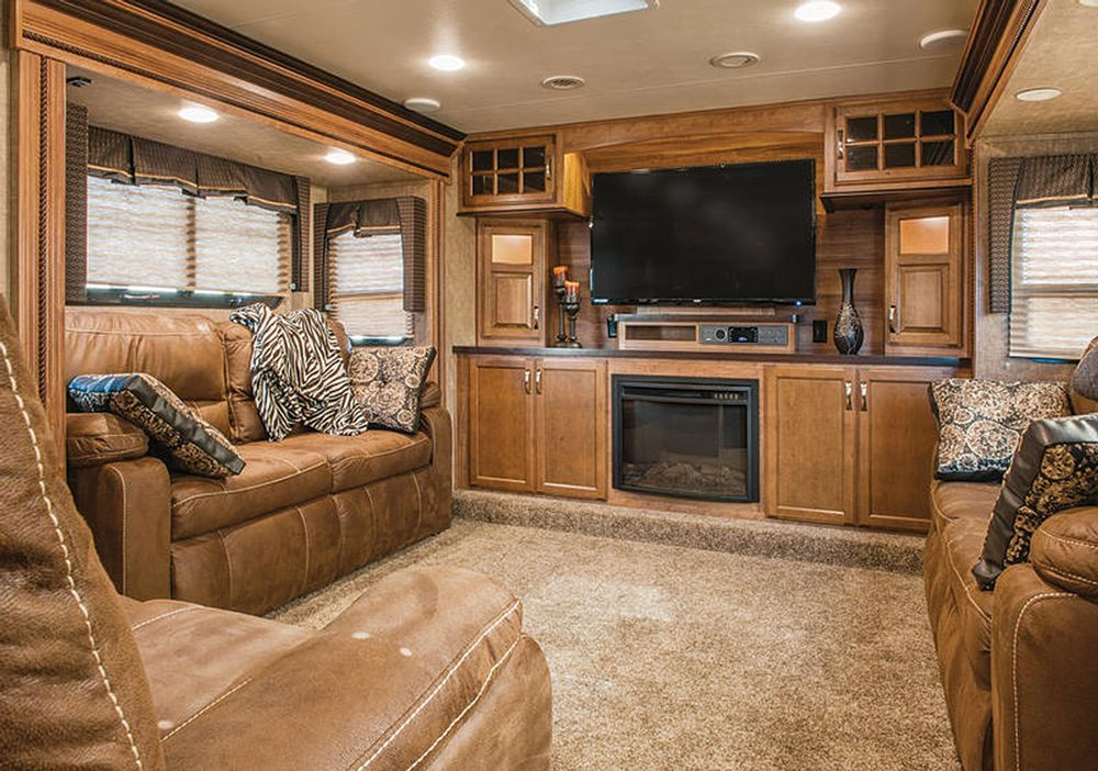 Latest Trends In Fifth Wheels Trailer Life Rv Living Room Rv
