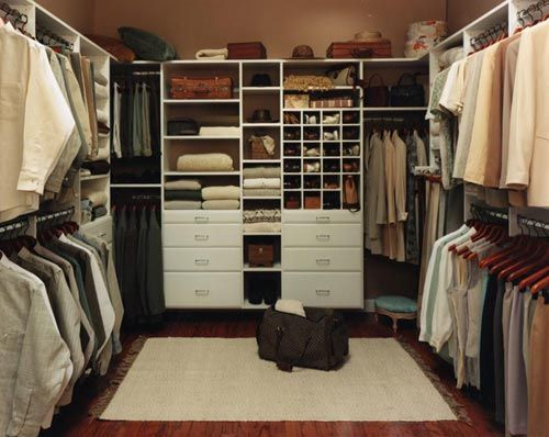Master bedroom closet, i want something similar. a his and her ...