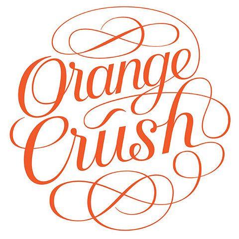 Orange Crush by Seb Lester | Typographie | Orange crush