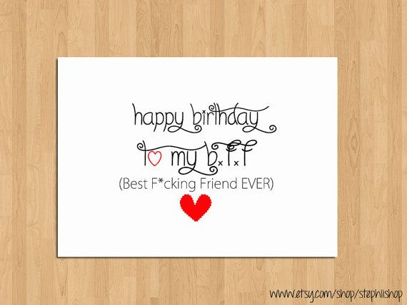 Funny Happy Birthday Card for Best FriendHappy Birthday to my – Funny Birthday Card for Friend