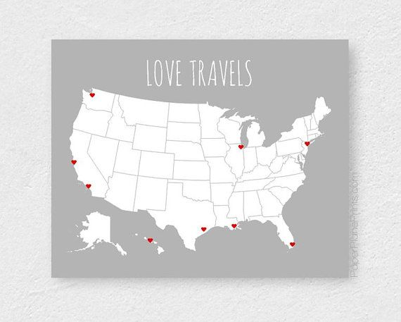 Inspiration Monday Party Road Trip Map Travel Wall And United - Us road map poster