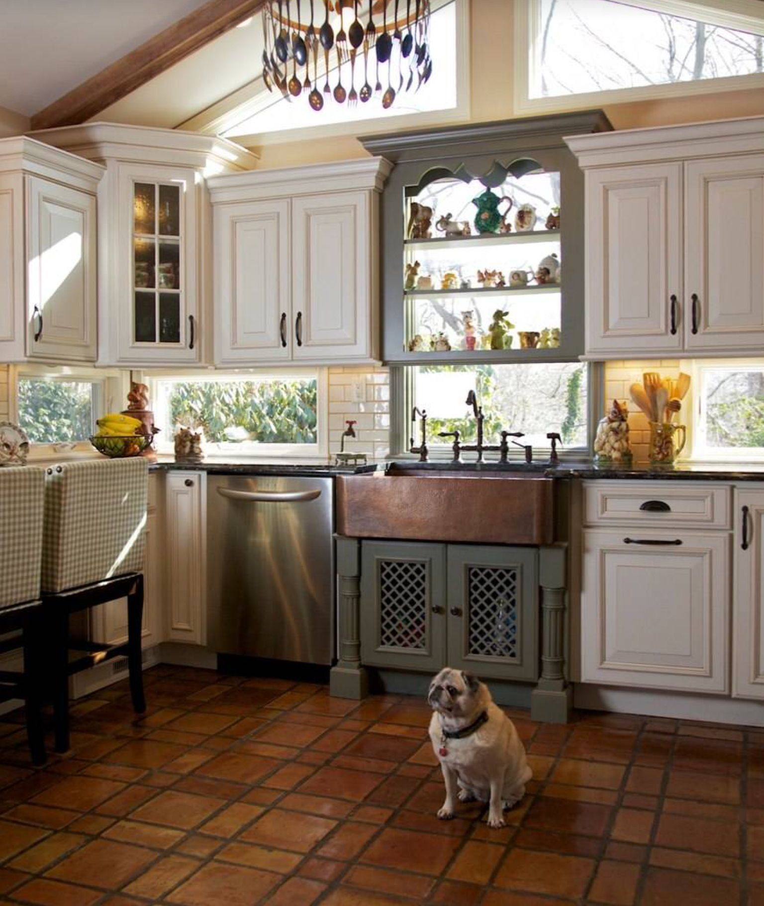Kitchen window without sill  the dog makes the kitchen   kitchen  pinterest  kitchens