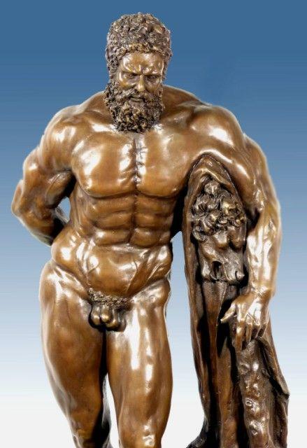 hercules greek mythology | GREEK MYTHOLOGY BRONZE HERCULES FARNESE ...
