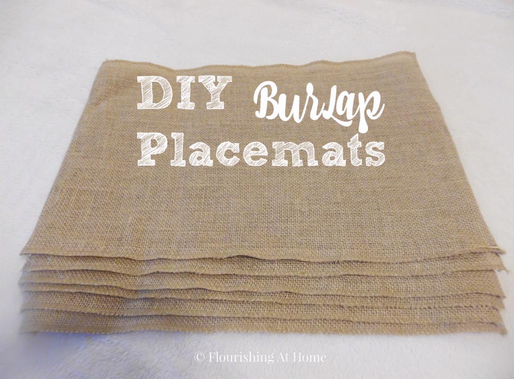 Diy Burlap Placemats Burlap Craft And Burlap Crafts