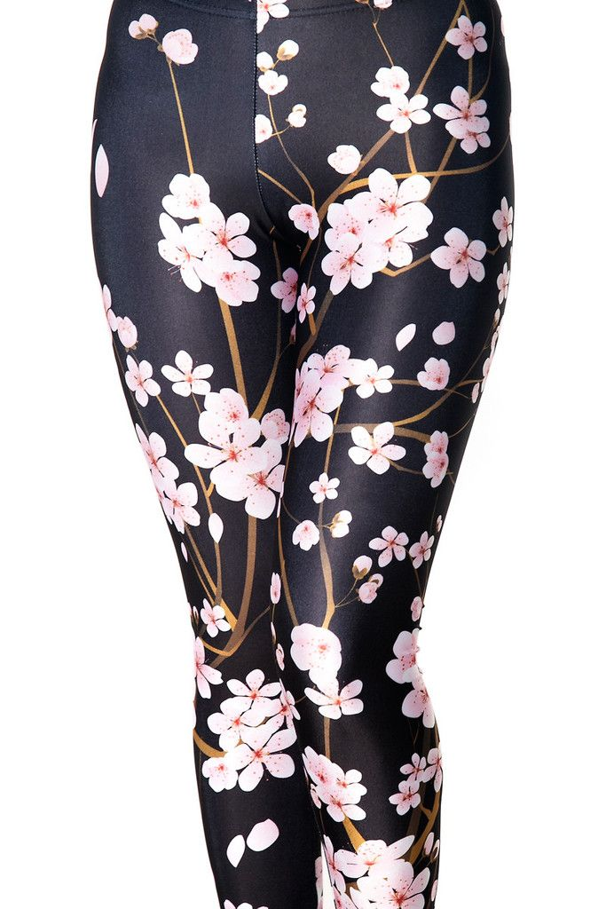 7bbe3b976 Cherry Blossom Black Leggings | Temps de flors. | Fashion, Style ...