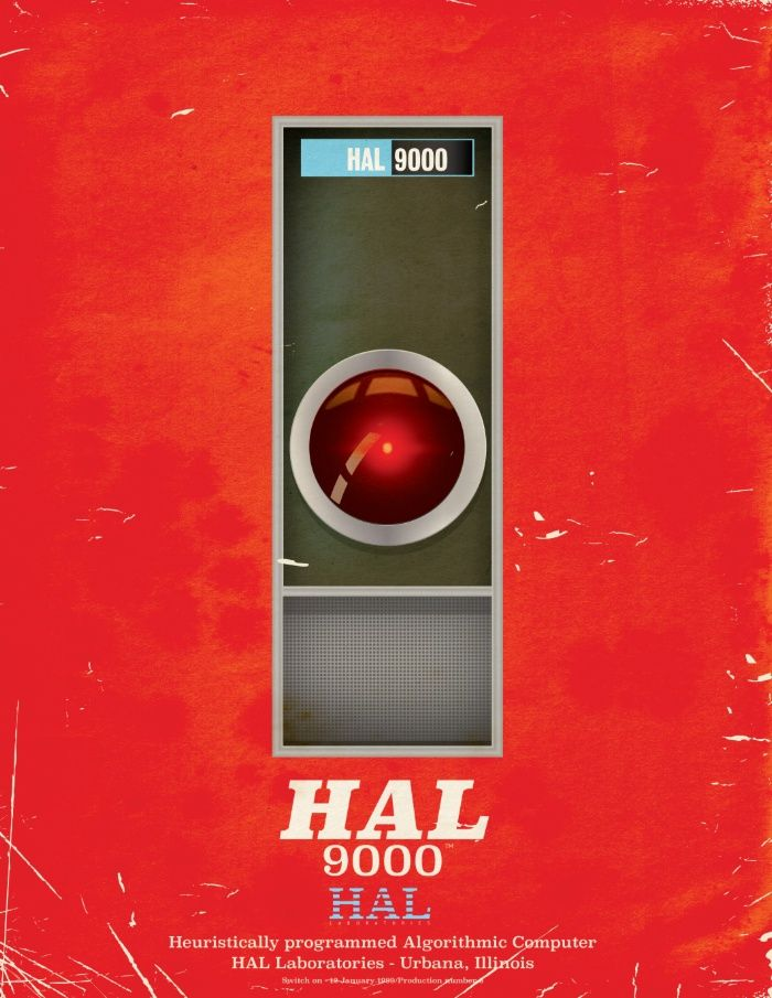 HAL 9000 Vintage magazine advertisement Limited edition red version Art Print