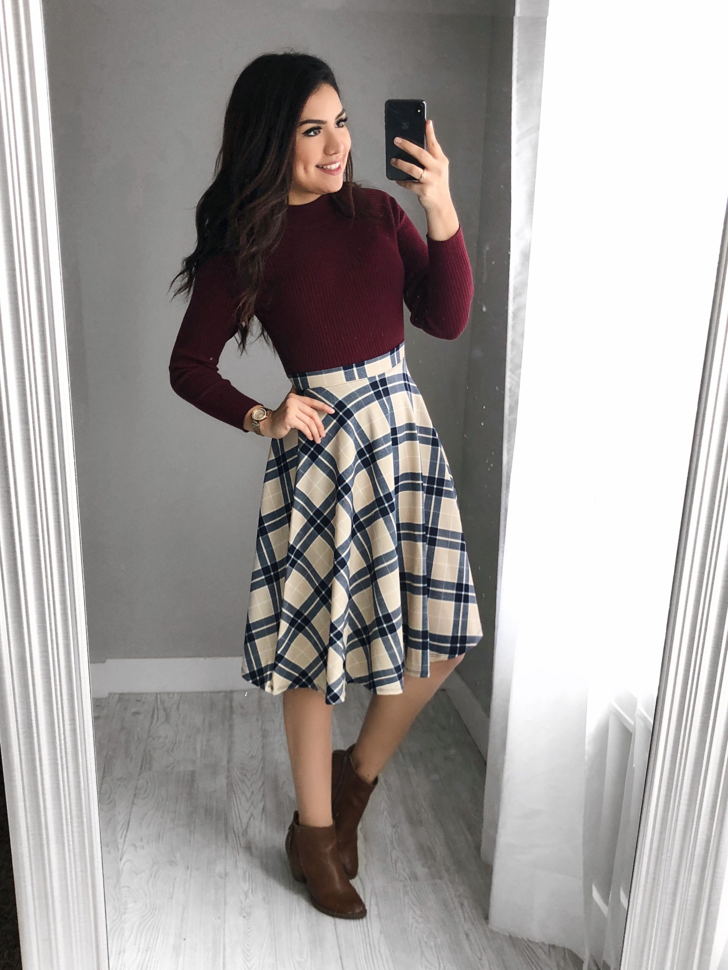 Mangas compridas+saia | Winter dress outfits, Classy outfits