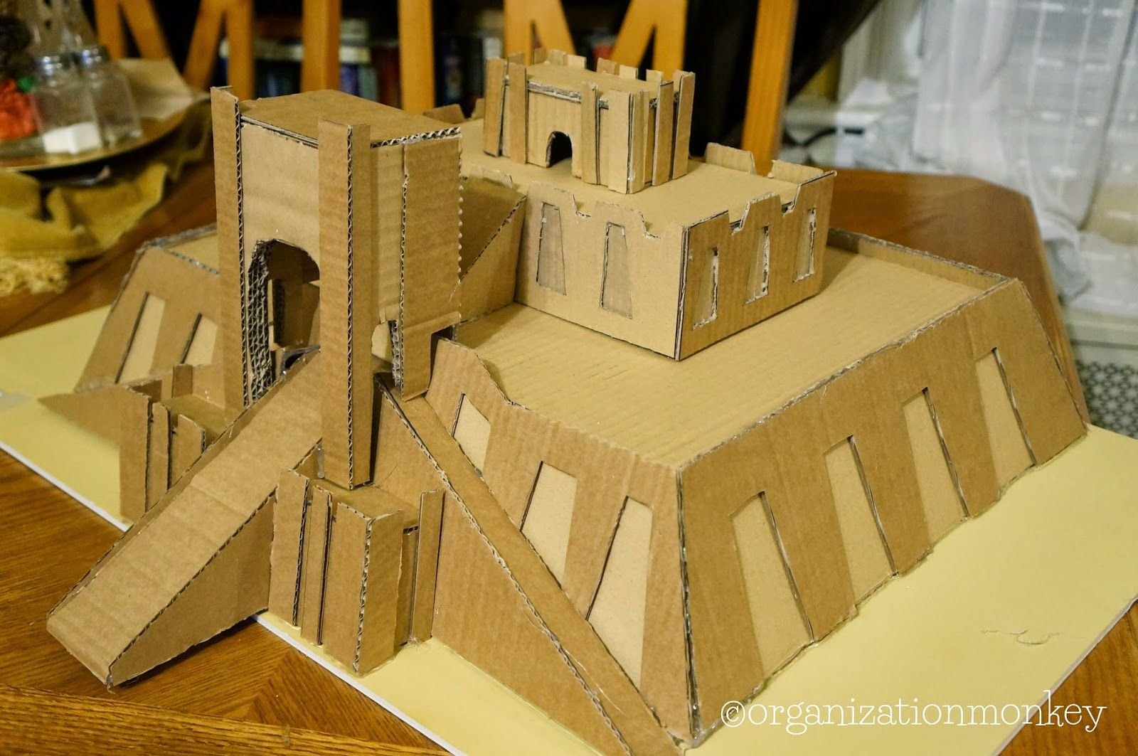 how to make a mayan pyramid out of popsicle sticks