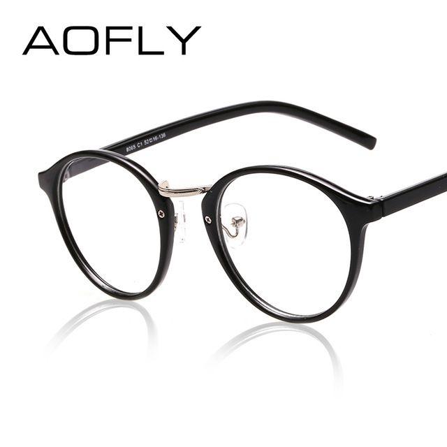 Aofly Moda Mais Novo Estilo Rodada Oculos De Armacao Do Vintage