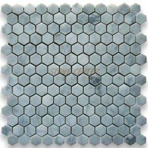 Carrara White Marble 1 Inch Hexagon Mosaic Tile Honed Hexagon Mosaic Tile Hexagonal Mosaic White Marble Mosaic