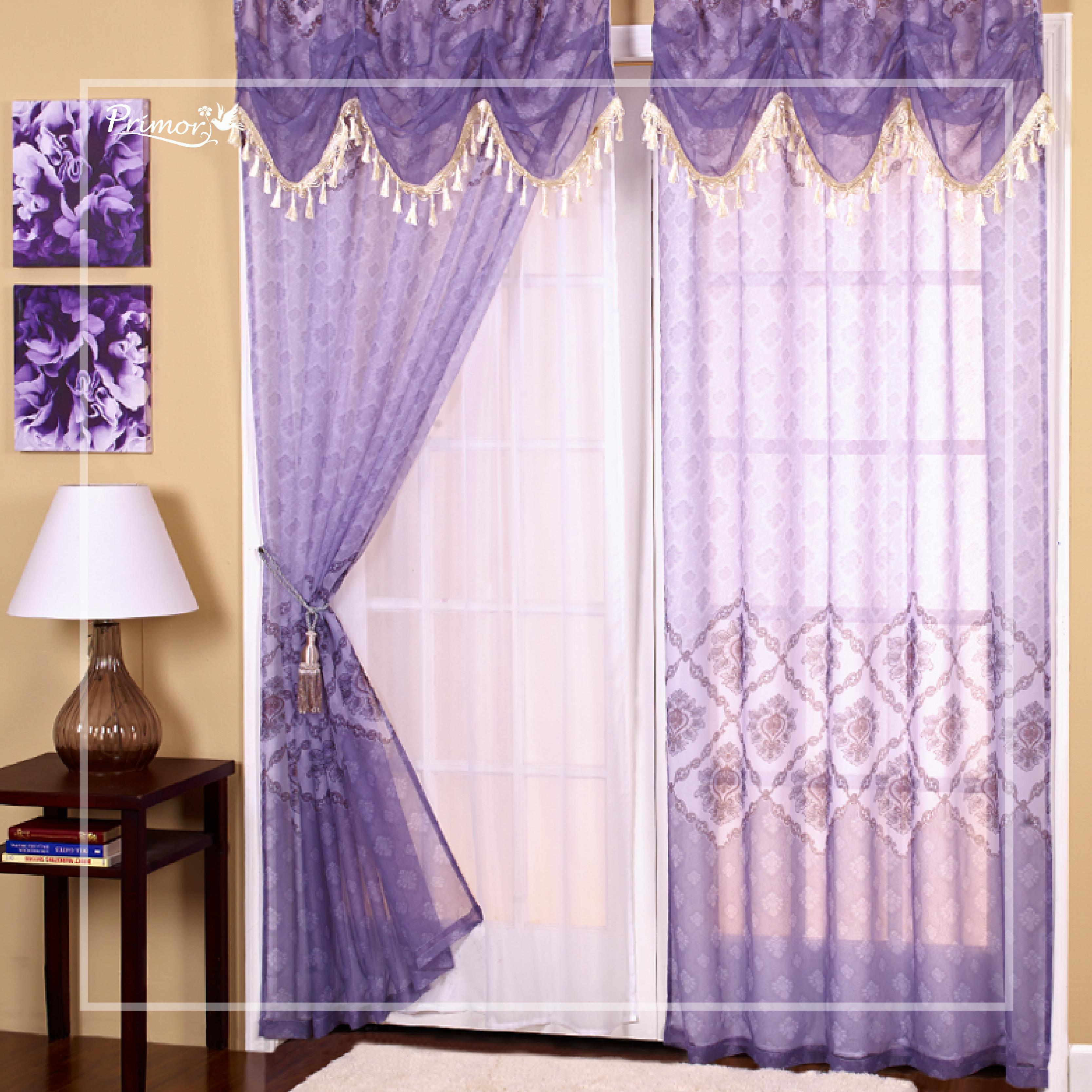 Hermosas cortinas para la sala en tono Lavanda y una linea ...