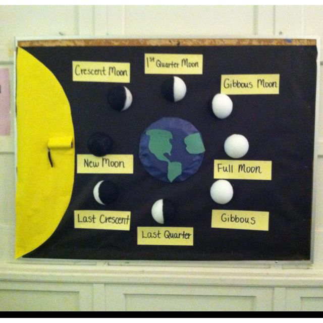 Phases of the moon bulletin board