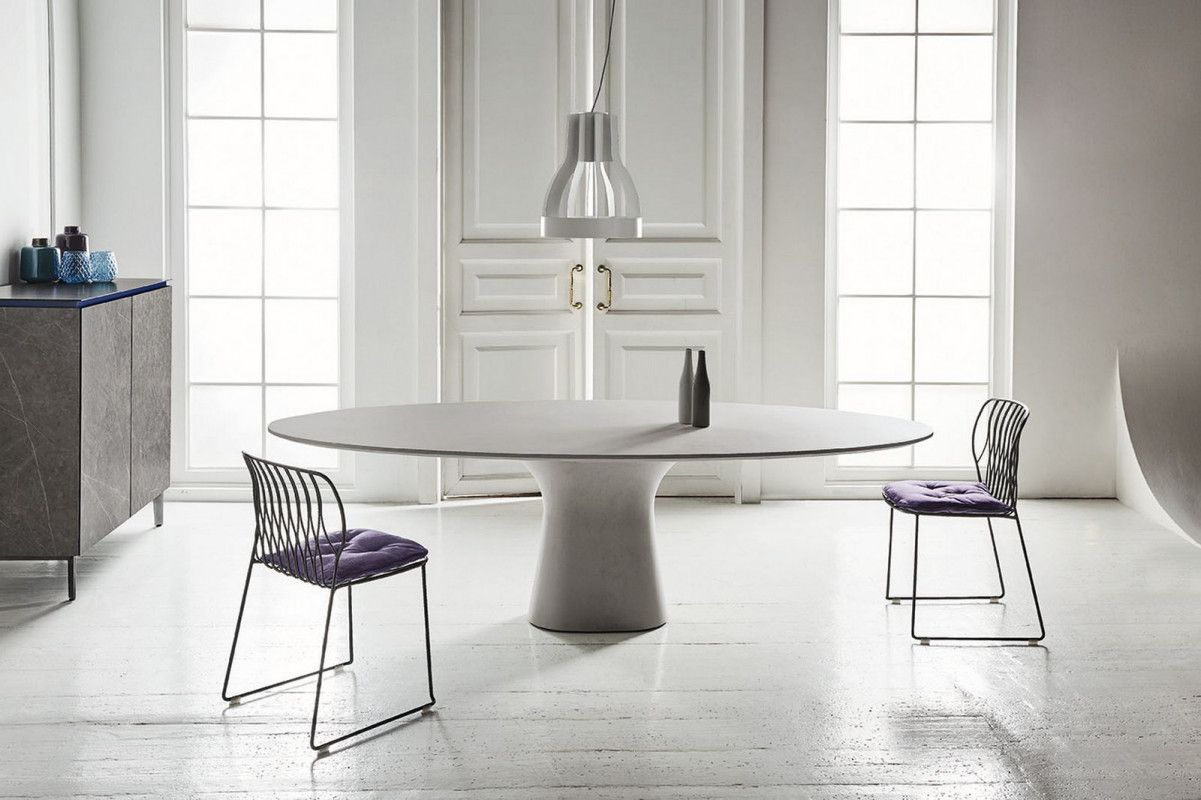 Podium Bontempi Oval table dining, Contemporary oval