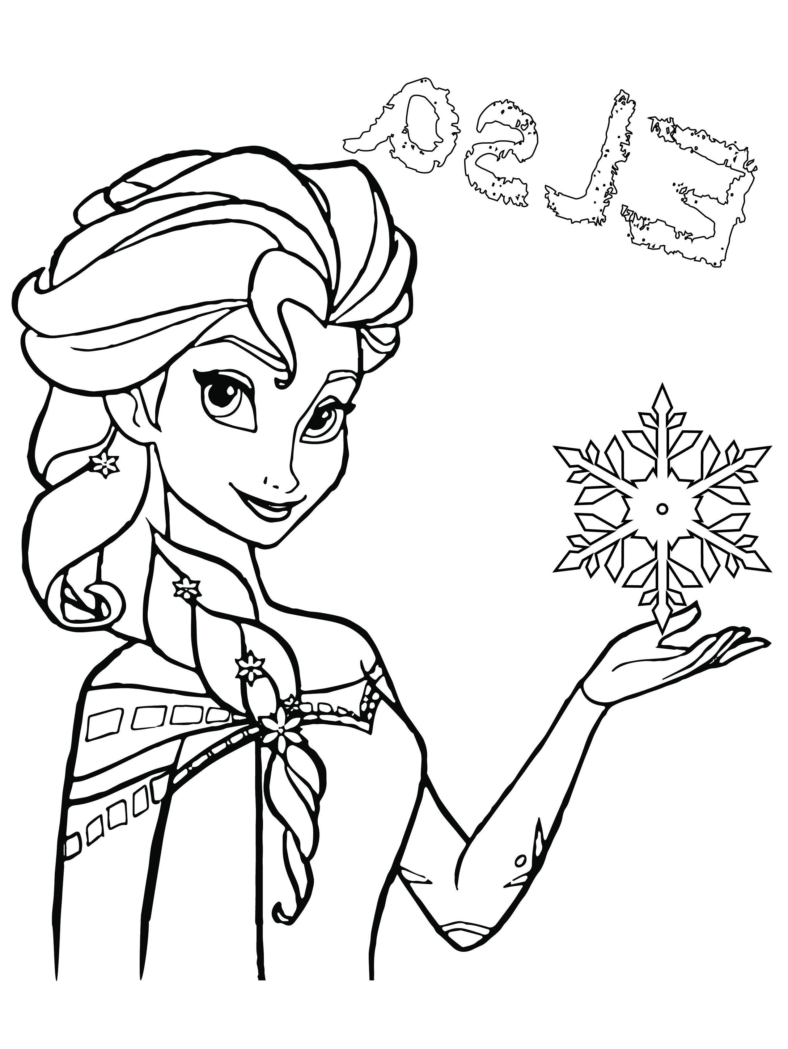 Coloriage A Imprimer Gratuit Elsa La Reine Des Neiges New