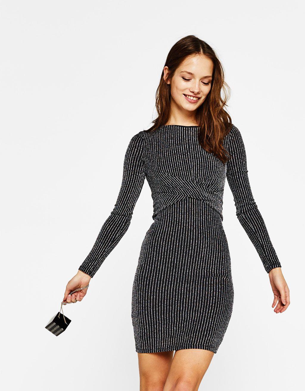 9924becd2210 Shimmery dress in metallic thread | Dress | Bershka vestidos ...