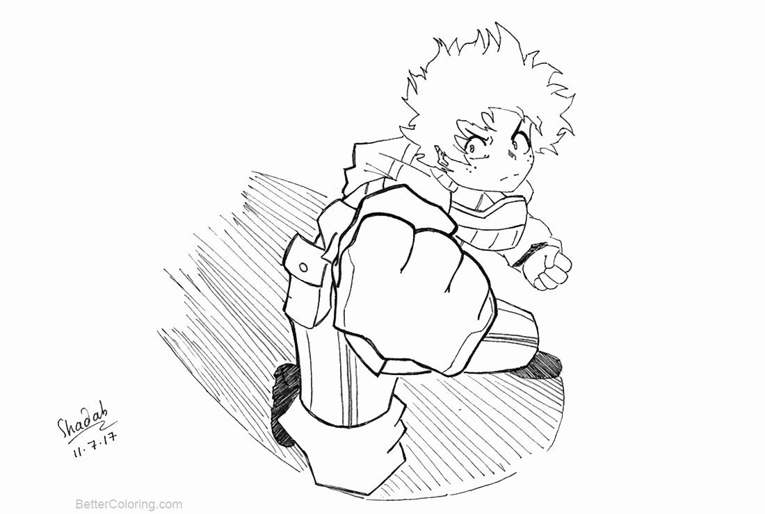 My Hero Academia Coloring Page Fresh My Hero Academia Coloring Pages Deku By Shadabs Free Horse Coloring Pages Cat Coloring Page Coloring Pages For Girls