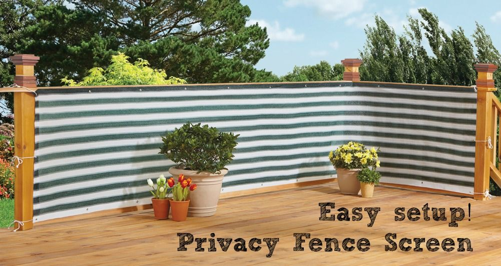 Deck & Fence Privacy Netting Screen Pinterest Fences