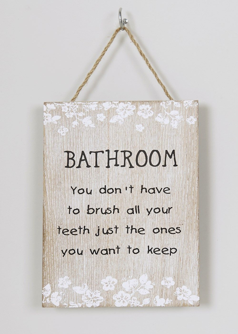 Bathroom Hanging Plaque (3cm x 3cm) - Matalan  Nautical