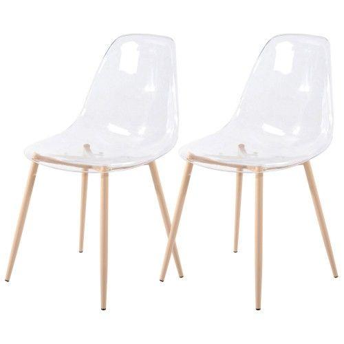 Chaise Fredrik transparente (lot de 2)   Chaise design pas