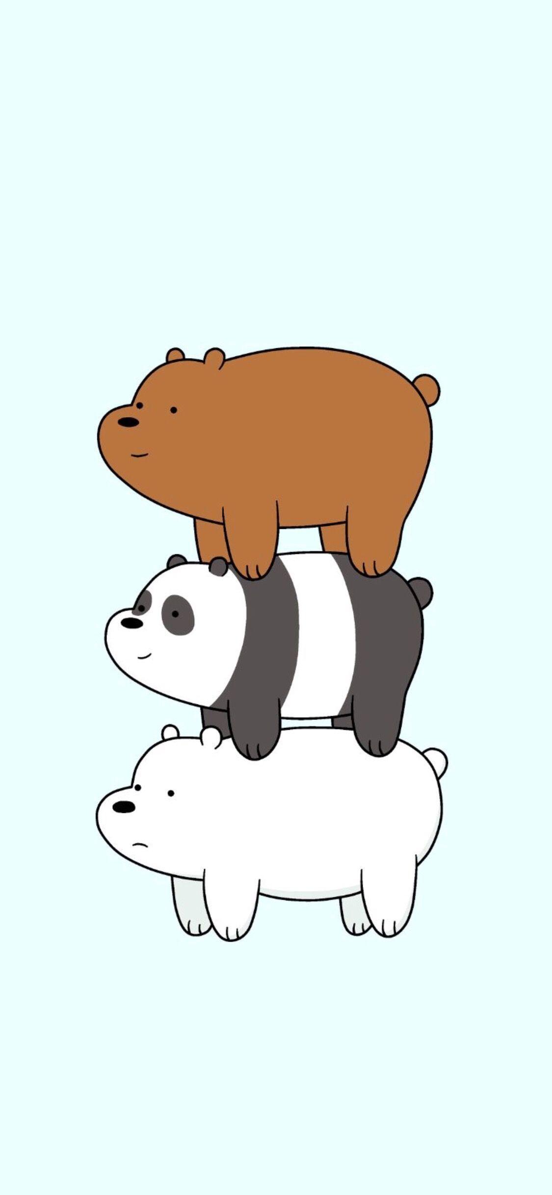 We Bare Bears Wallpaper For Iphone X Kartun Wallpaper Kartun Ilustrasi Lucu
