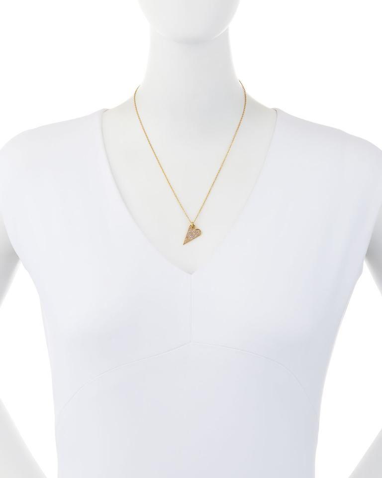 Rebecca Minkoff Rebecca Minkoff Pave Heart Pendant Necklace