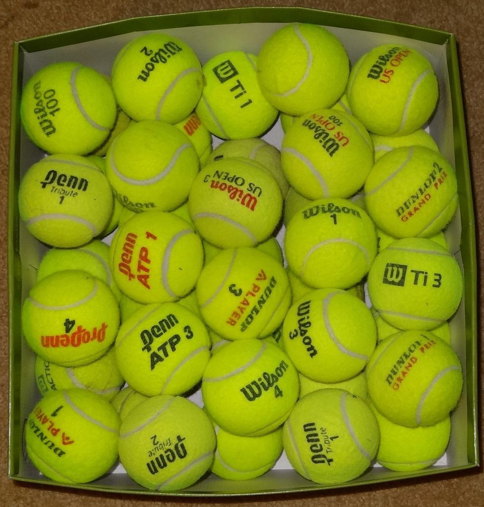 50 Used Tennis Balls Mixed Brands High Quality Free Shipping Read Description