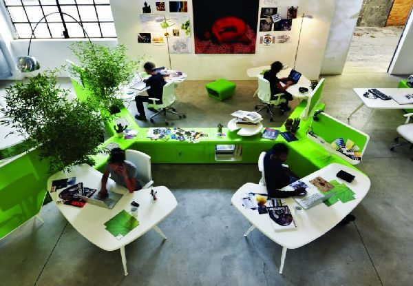 ergonomic beta workplace system and space very interactive design by