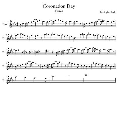 Coronation Day Frozen Love This Sweet Song Sheet Music