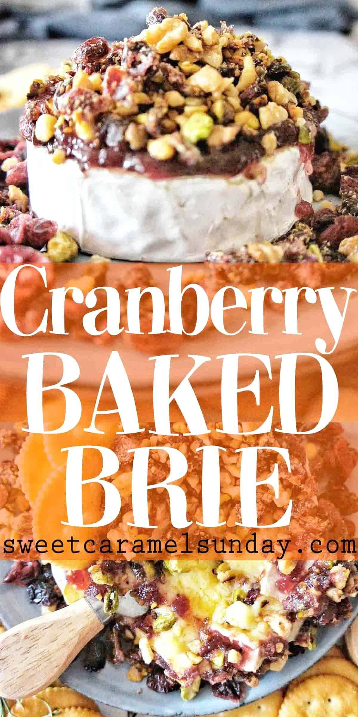 Cranberry Baked Brie is  an easy appetizer recipe that helps celebrate the festive season.