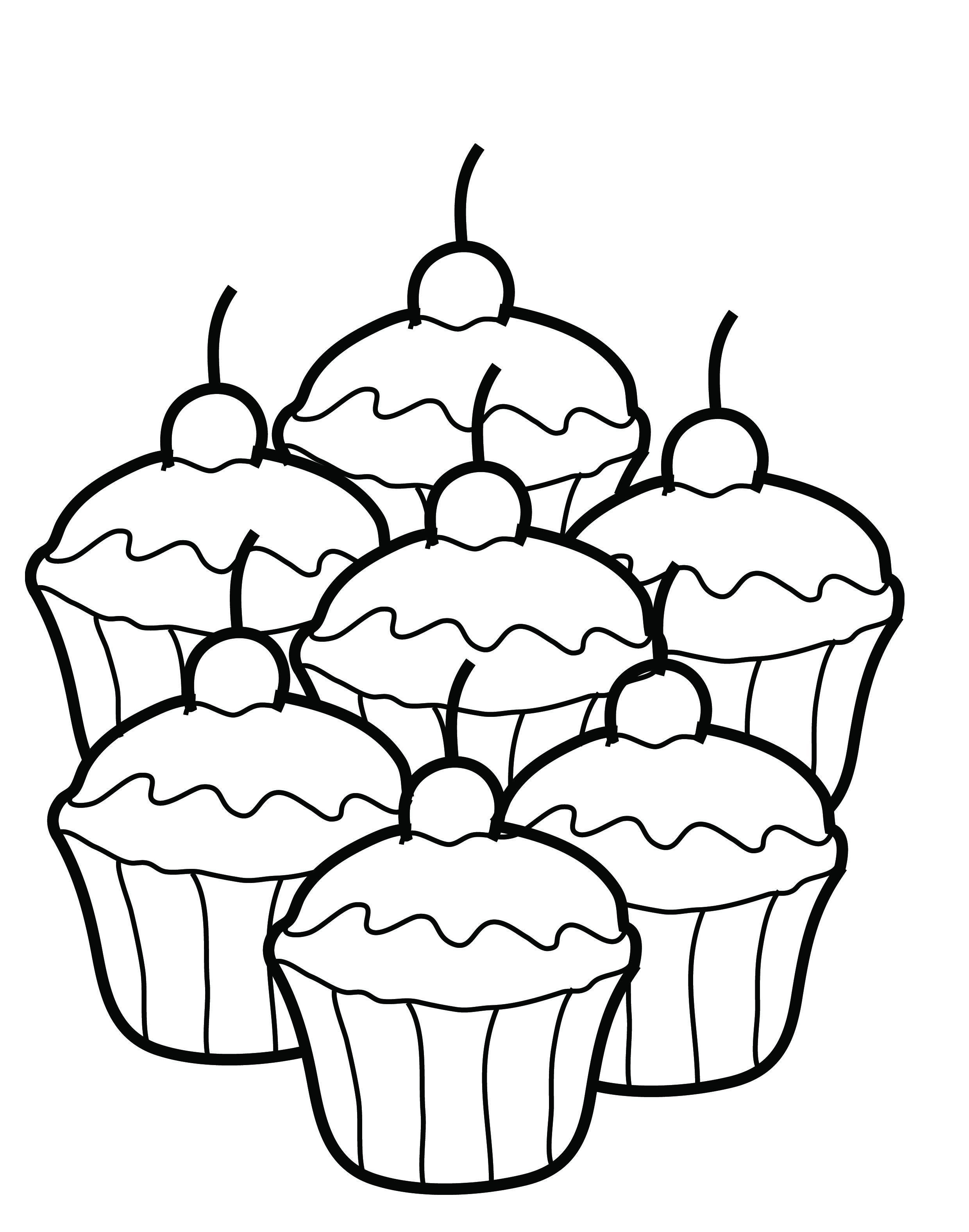 Free Printable Cupcake Coloring Pages For Kids Food Coloring