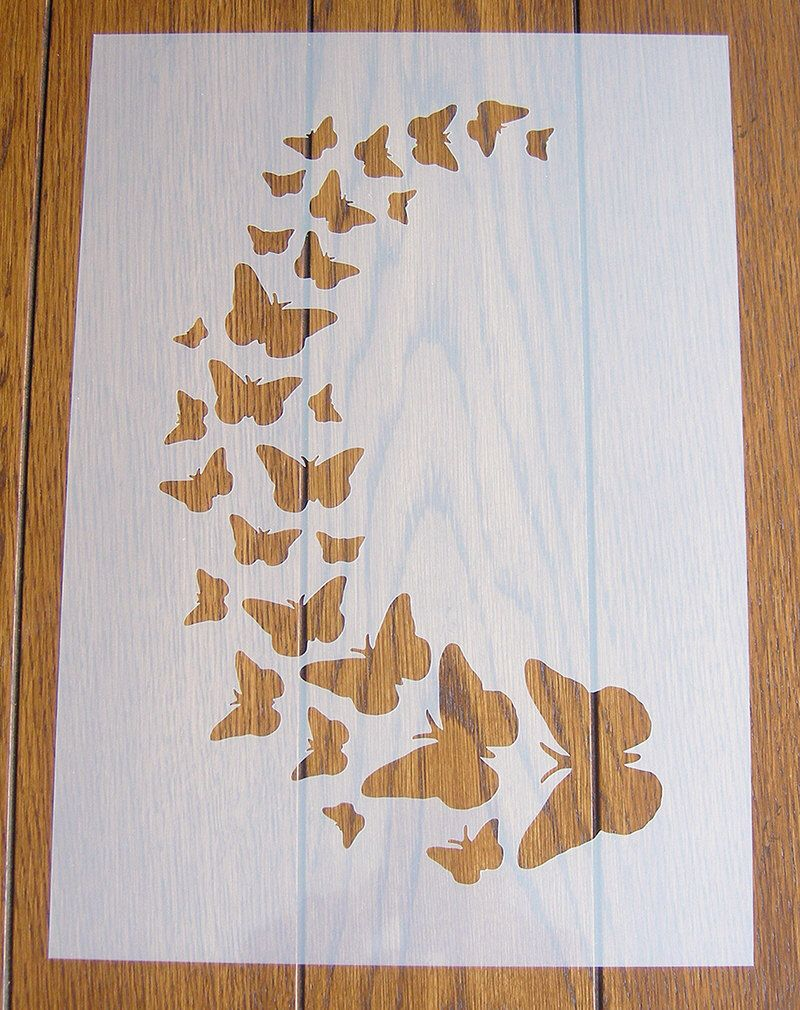 Butterfly Stencil Mask Reusable Mylar Sheet for Arts & Crafts by GetCraftyUK on Etsy https://www.etsy.com/listing/281169060/butterfly-stencil-mask-reusable-mylar