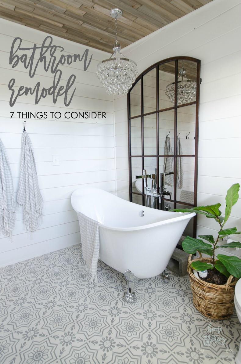 Things To Consider Before Beginning A Bathroom Remodel Shiplap