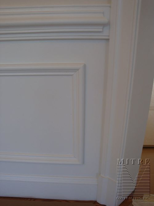2 piece chair rail panel moulding shadowboxes for Dining room molding panels