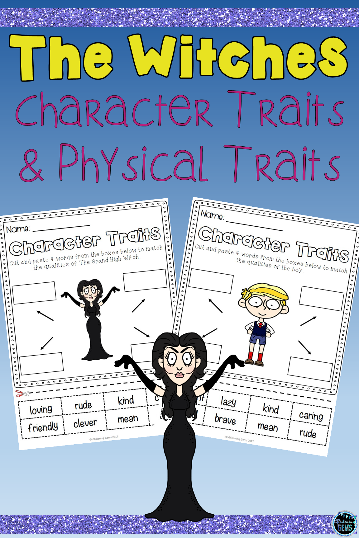 The Witches By Roald Dahl Character Traits Activities