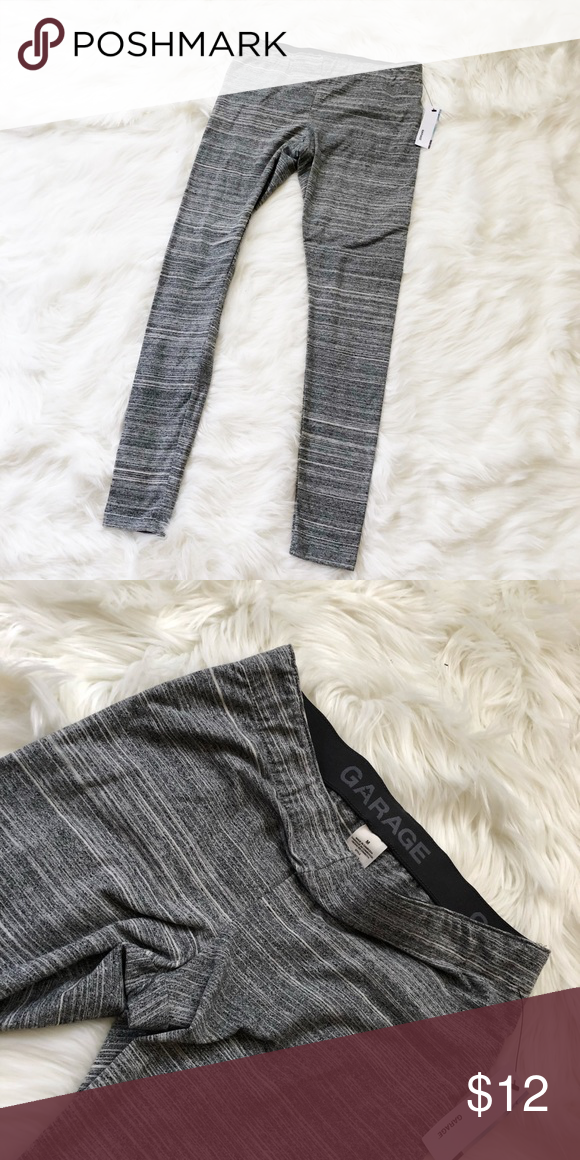 f86ca9fe7fbec3 Grey Stripe Leggings Size M, new with tags. Garage Pants Leggings ...