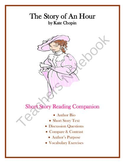The Story Of An Hour By Kate Chopin Short Study Guide Substitute Teacher Resource Text To Connections Essay On