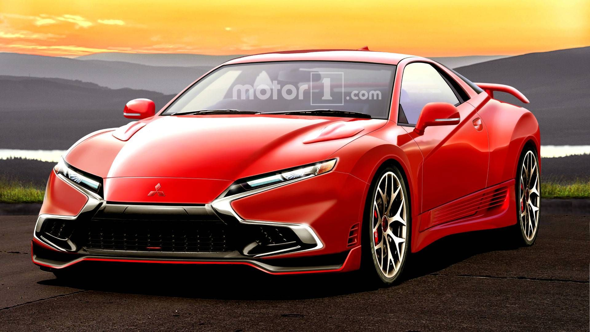mitsubishi 3000gt rendered as if it were alive today with