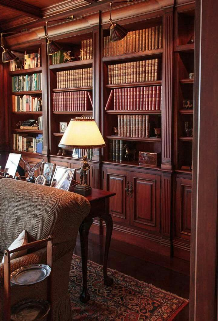 English Study Room: Home Library Design, Home, Home