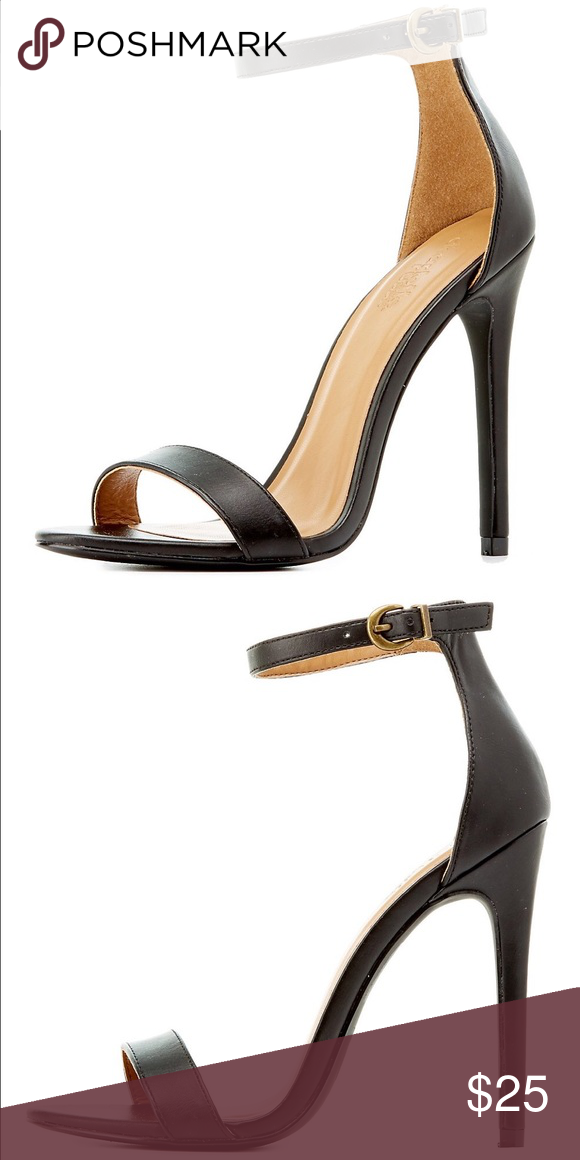 c5e200e2ee21 NEW Charlotte Russe Two-Piece Black Heels Sandals Every girl needs at least  one fun