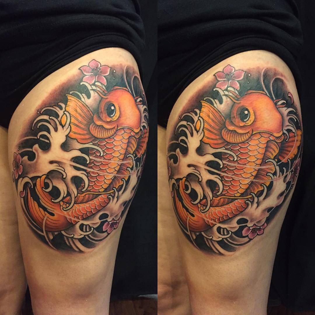 35 traditional japanese koi fish tattoo meaning and for Black koi fish meaning