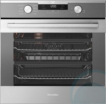 electrolux eve611sa 600mm60cm electric wall oven front view - Electric Wall Oven