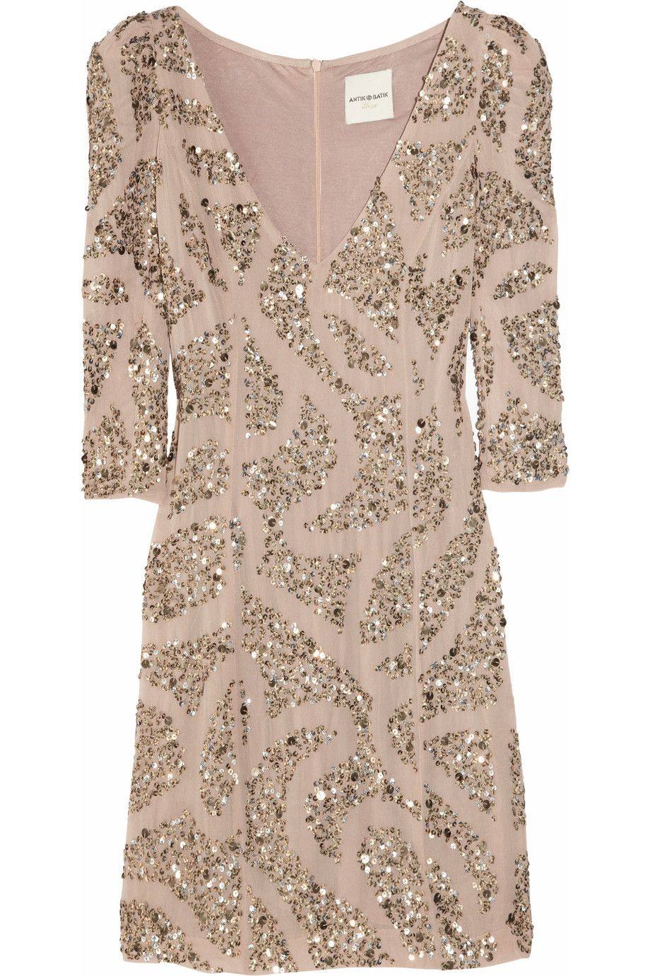 Sequin-embellished crepe dress by Antik Batik  Well Dressed ...