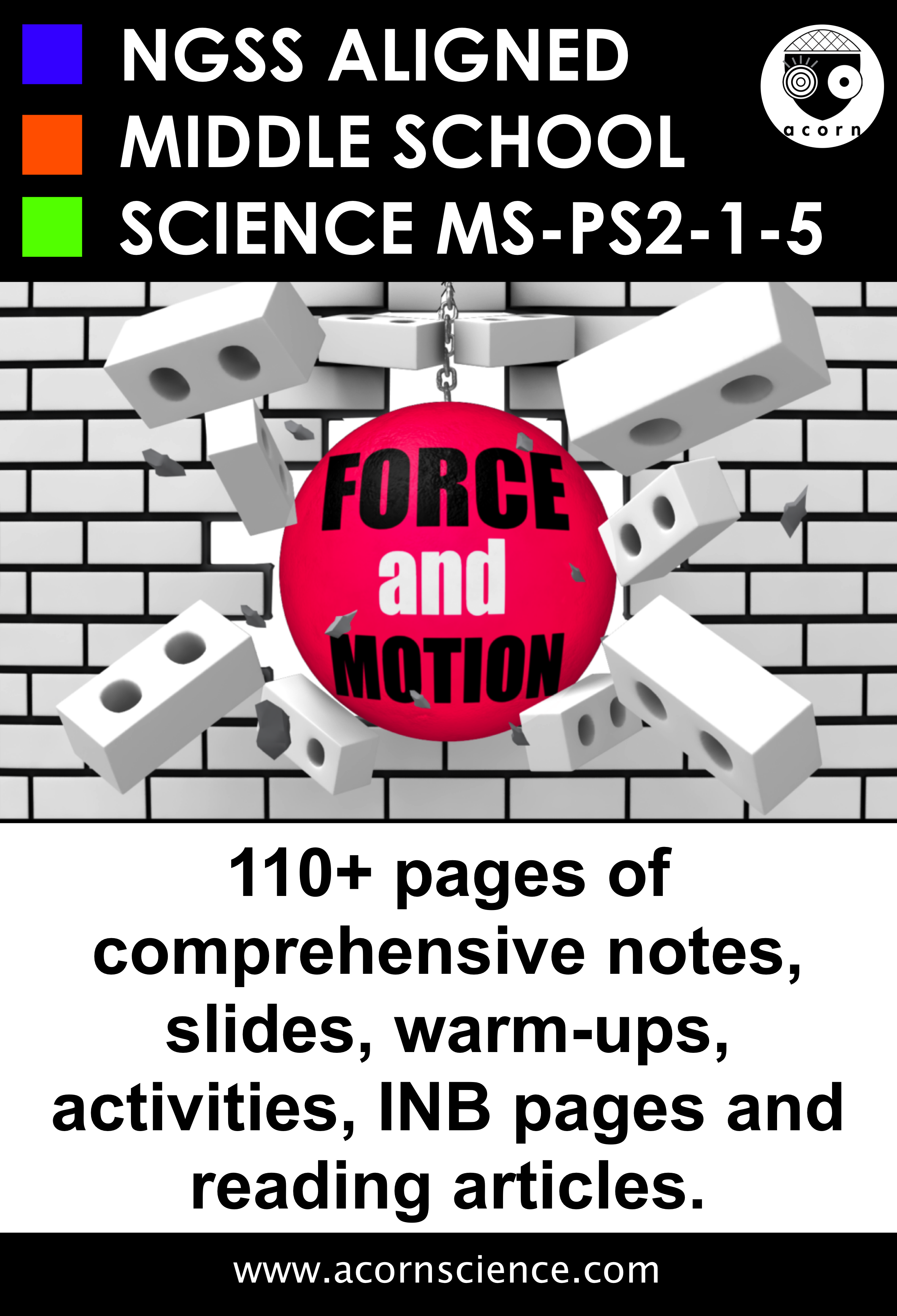 Middle School Ngss Force And Motion Ms Ps2 Aligned Pack