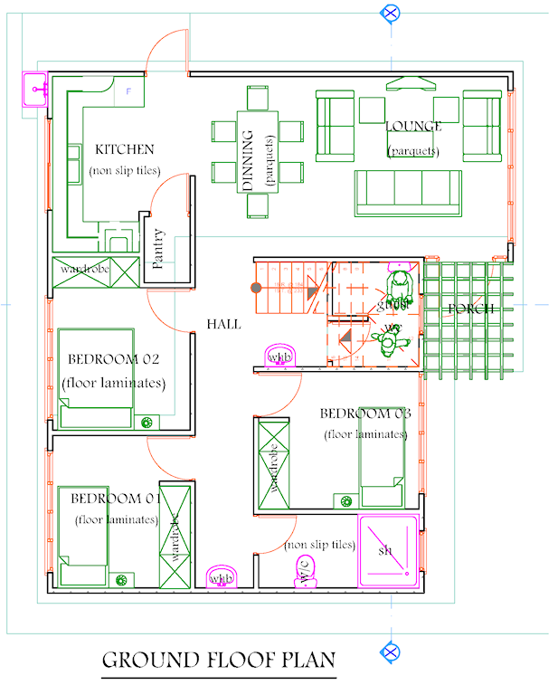 Download 4 Bedroom Maisonette House Plans Adhome House Plans Ground Floor Plan How To Plan