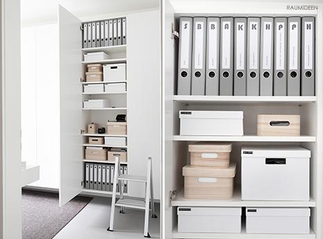 Minimierungsprojekt und Ordnung im Büro (mit Druckvorlage für Einsteckschilder)