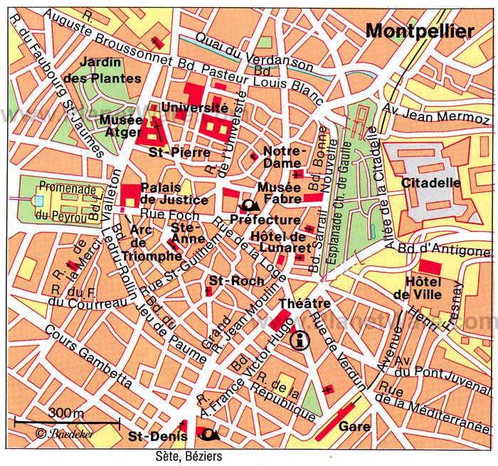 montpellier attractions map tourist attractions