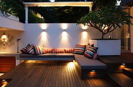 Modern buitenlampen totaal overzicht van terras balkon